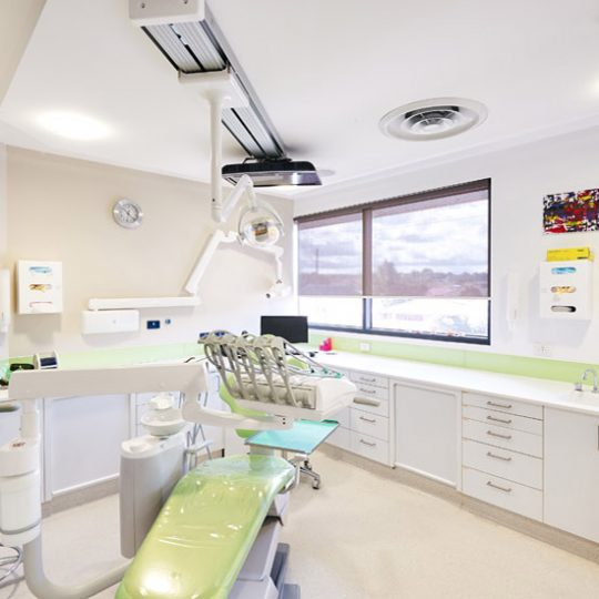 integrated dental practice chair