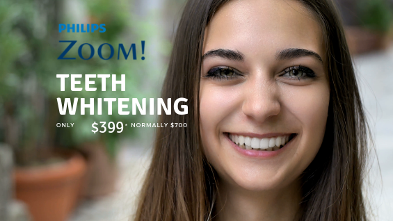 Zoom Whitening teeth offer