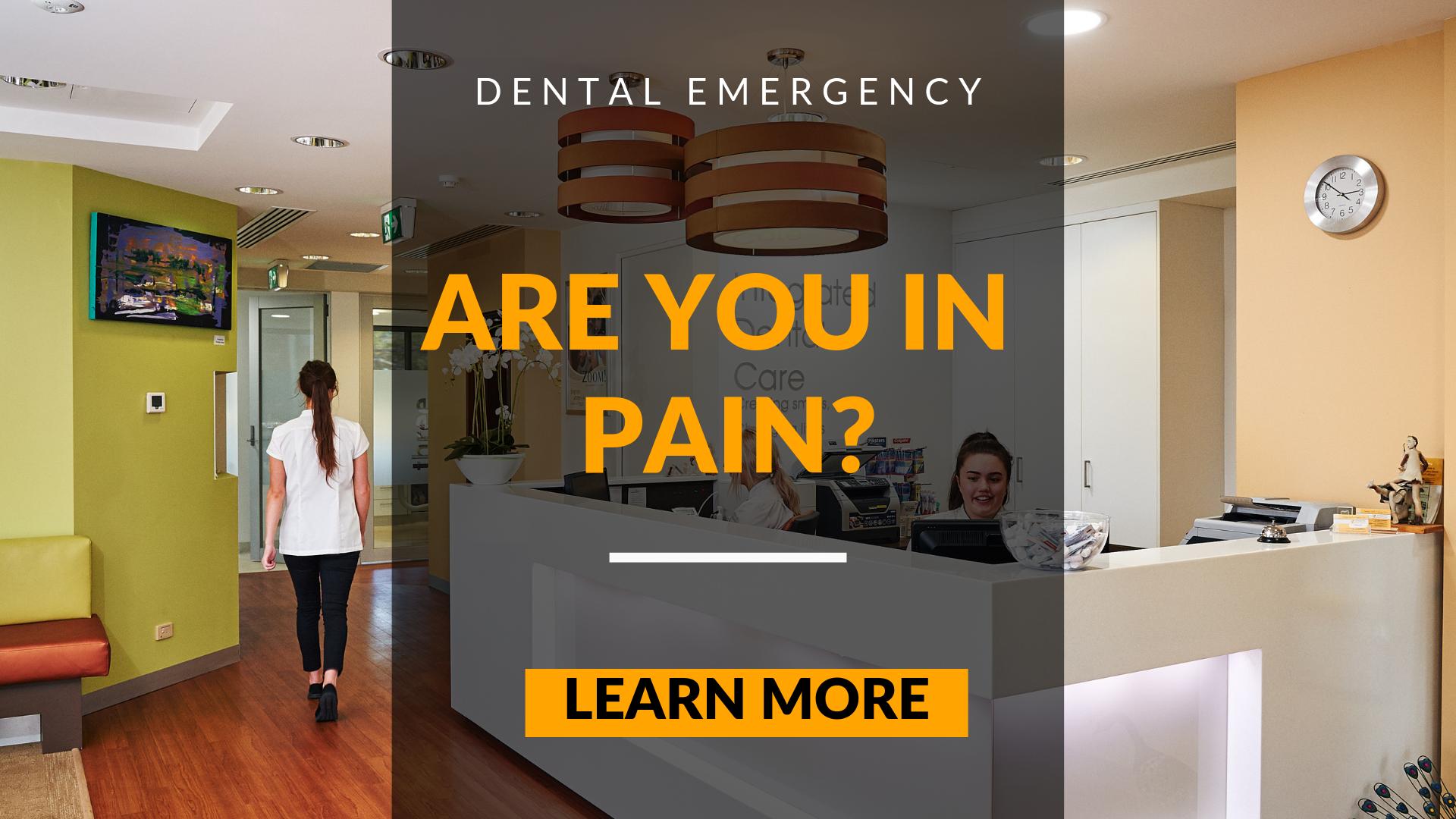 dental emergency in pain